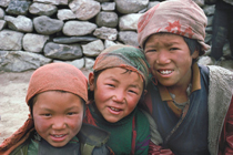 nepal three sherpa kids